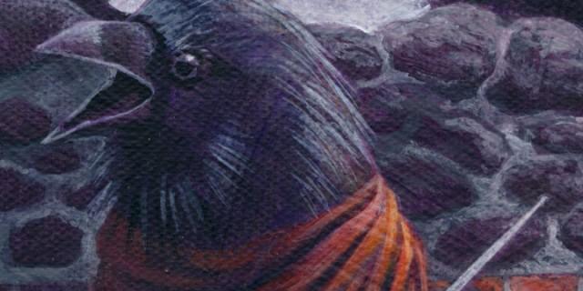 Raven Bear Painting