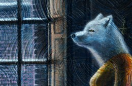 Arctic Fox Christmas Painting Complete